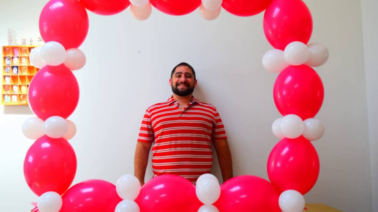 balloon photo booth prop tutorial how to make a balloon frame for photo opps
