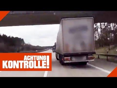 Tickende Zeitbombe! LKW vllig schief auf der Autobahn! Was ist passiert? 1/2 | Achtung Kontrolle