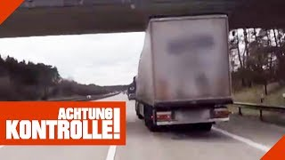 Tickende Zeitbombe! LKW völlig schief auf der Autobahn! Was ist passiert? 1/2 | Achtung Kontrolle