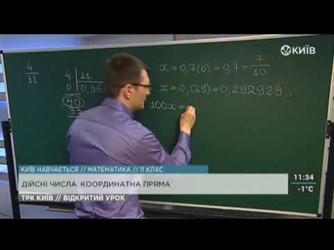 11 клас. Алгебра. Дійсні числа. Координатна пряма.