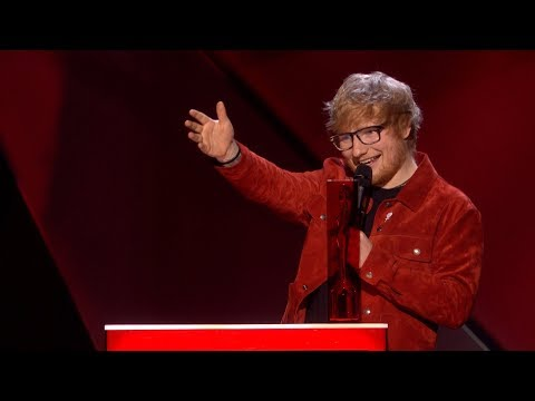 Ed Sheeran wins The BRITs Global Success Award  The BRIT Awards 2018