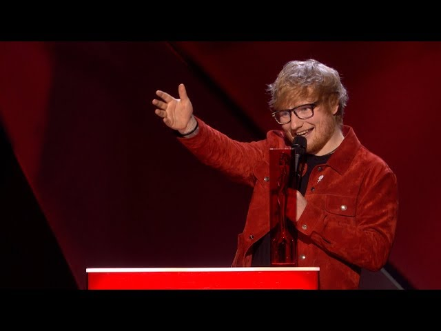 Ed Sheeran wins The BRITs Global Success Award | The BRIT Awards 2018