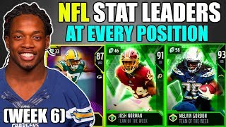 NFL STAT LEADERS AT EVERY POSITION! WEEK 6! Madden 19 Ultimate Team Squad Builder