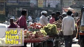 Fruit market in Mysore - India