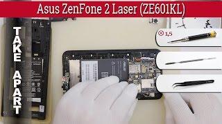 How to disassemble 📱 Asus ZenFone 2 Laser ZE601KL Take apart Tutorial