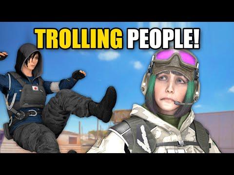 TROLLING PEOPLE WITH HOLOGRAMS! | Rainbow Six Siege