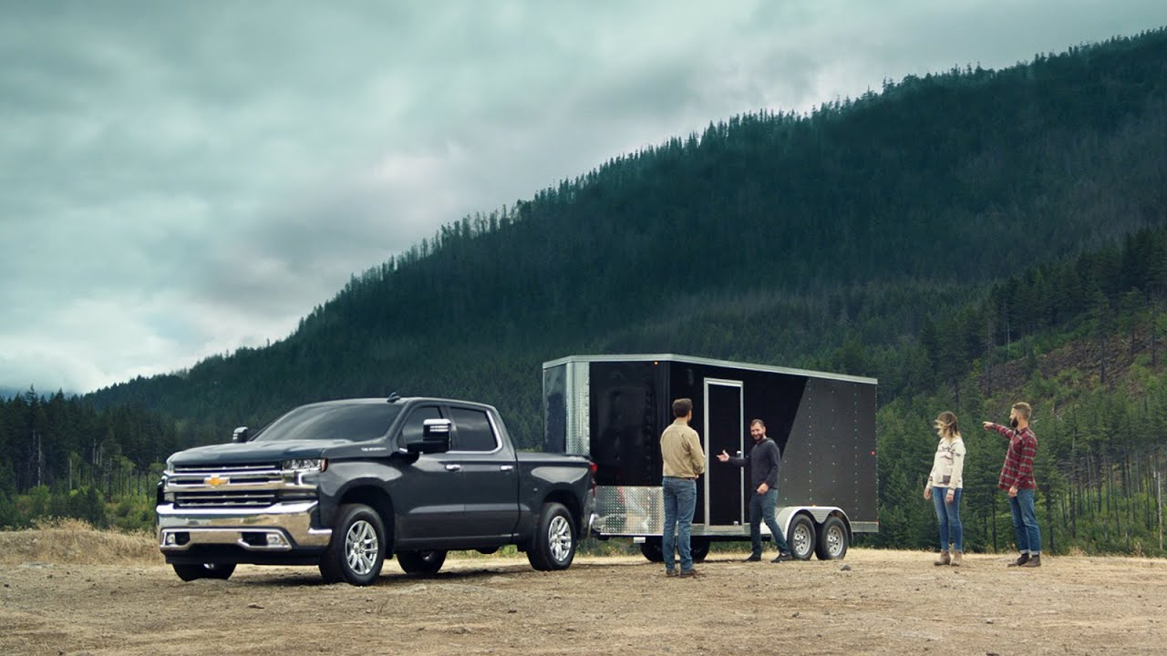 Best Commercials 2020.2020 Chevy Silverado Invisible Trailer Chevy Commercial Chevrolet