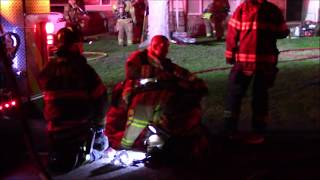 Firefighters Rescue & Revive Dog From House Fire (Flames Showing)