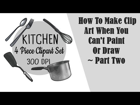 How To Make Digital Clip Art When You Can't Paint Or Draw ~ Part Two