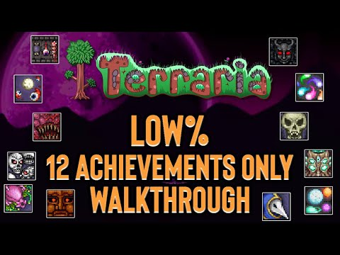 Terraria finished in only 12 achievements! [Low% Run]