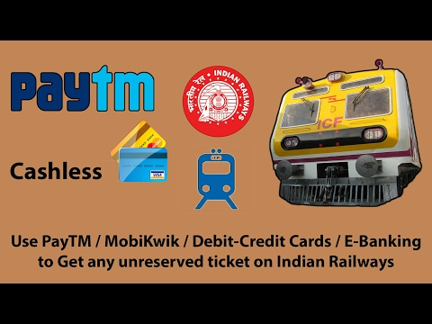 Go Cashless: Book Unreserved Suburban Tickets on Indian Railways via E-wallets (Paper Ticket Mode)