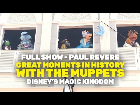 NEW Great Moments in History with The Muppets - Paul Revere (Magic Kingdom)