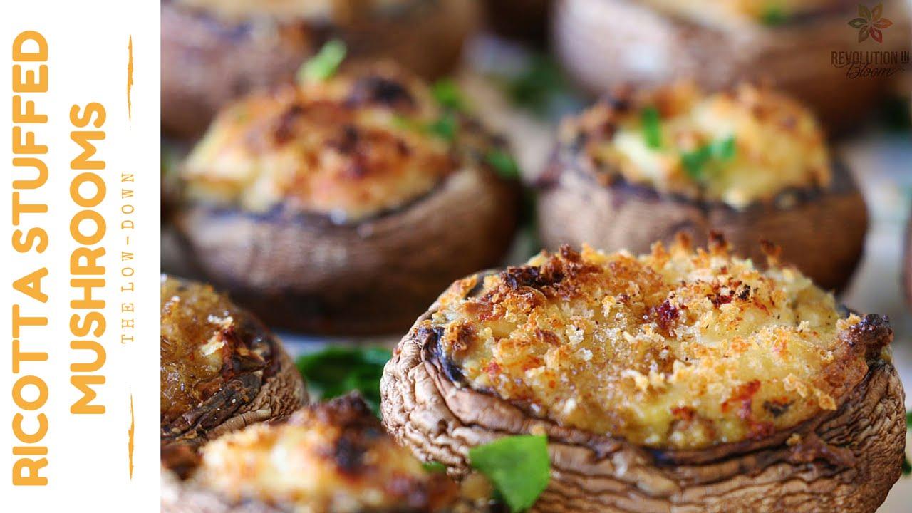 Ricotta Stuffed Mushrooms | Vegan Recipe - YouTube