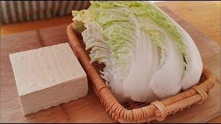 豆腐別直接炒著吃,加一顆白菜,比吃肉還過癮,上桌連湯汁都不剩 【小穎美食】