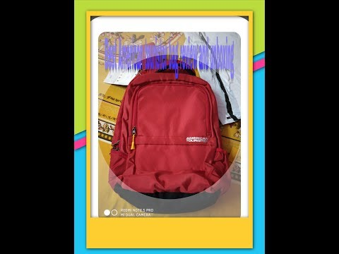 American Tourister 29 Ltrs Red Laptop Backpack ( AMT TECH Q Laptop BKPK01 RED ) Unboxing And Review