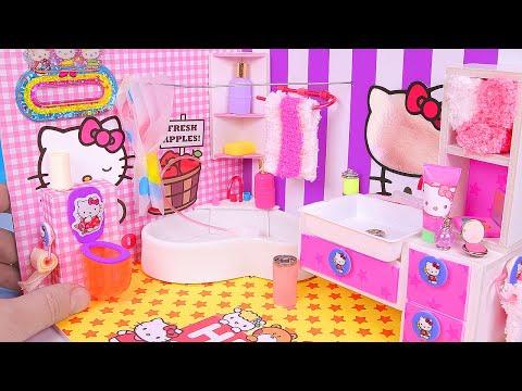 DIY Miniature Hello Kitty Bathroom