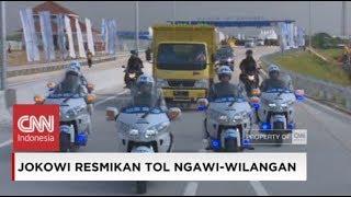 Aksi Presiden Jokowi Naik Truk Coba Tol Ngawi - Kertosono