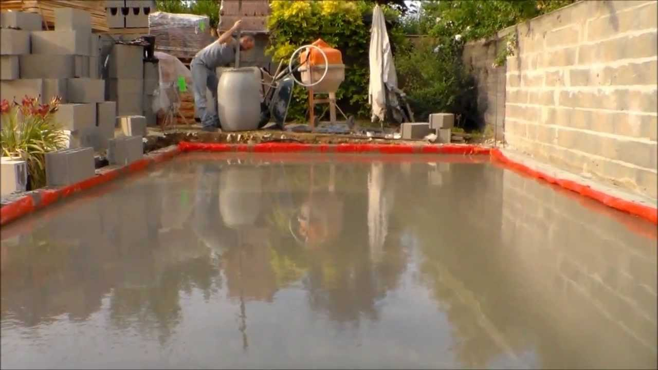 comment faire une dalle beton, how to make a concrete slab - YouTube