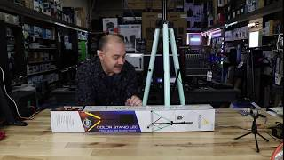 Just $80 for ADJ CSL-100 LED Light up  DJ Speaker stands Full review and test of the Lights