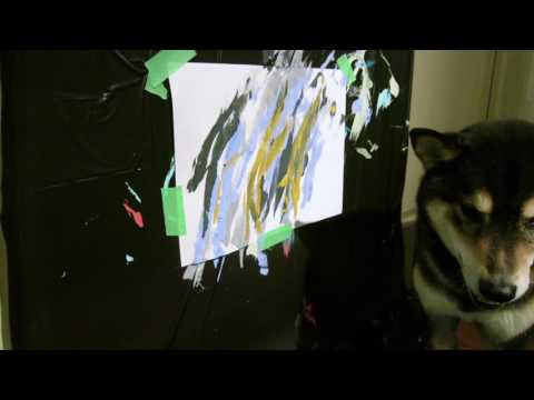 Shiba Inu painting debut