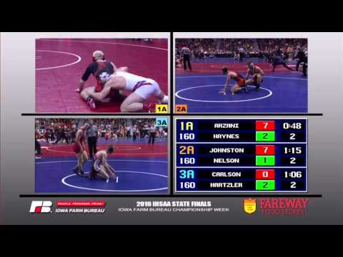 2016 IHSAA State Wrestling- 160 Finals