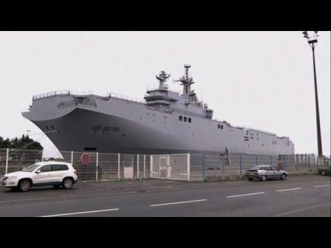 Российский экипаж «Мистраля» покинул французский порт на учебном корабле и отплыл домой (новости)