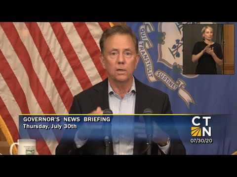Gov. Ned Lamont's COVID-19 briefing.