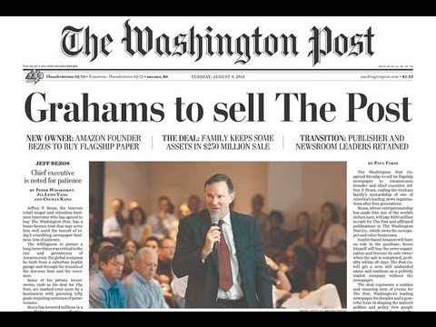 How The Washington Post's New Owner Aided the CIA, Blocked WikiLeaks & Decimated Book Industry 1/2
