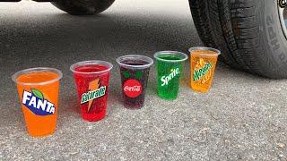 Coca Cola, Different Fanta, Mirinda, 7up, Pepsi, Sprite and Mentos in the Heart Underground Hole