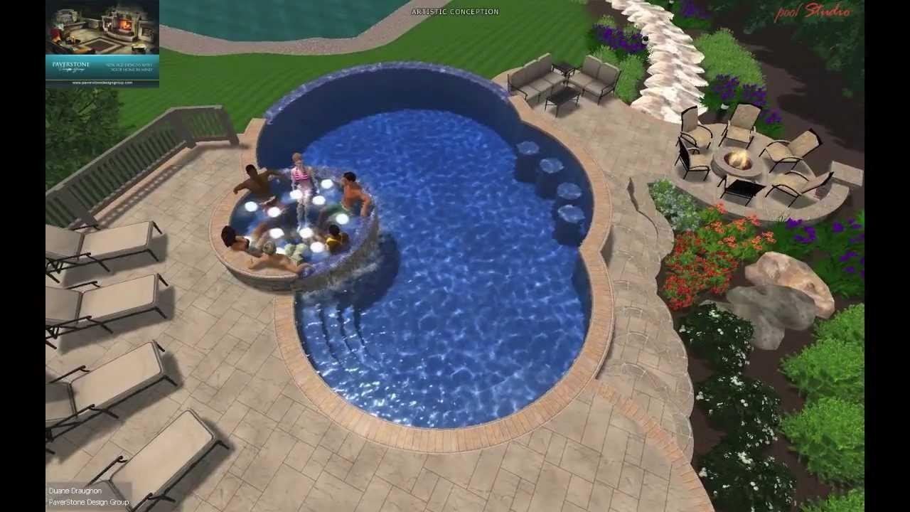 Vizx design studios 3d gunite pool design schaeferle for 3d pool design online