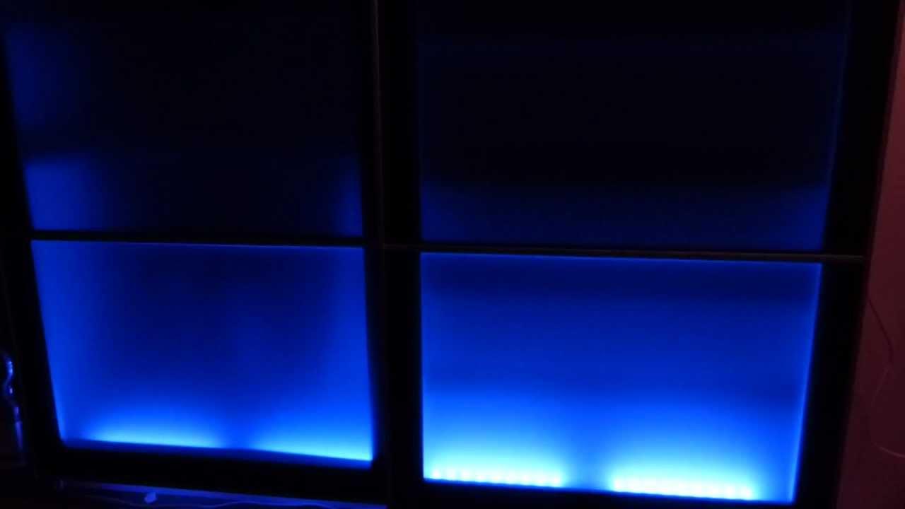 kleiderschrank rgb led beleuchtung youtube. Black Bedroom Furniture Sets. Home Design Ideas