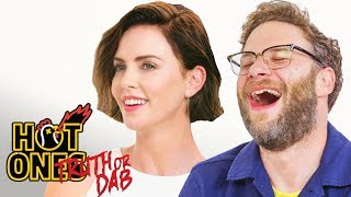 Download Seth Rogen and Charlize Theron Play Truth or Dab | Hot Ones Mp3 and Videos
