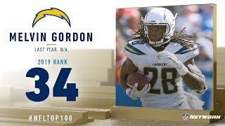 #34: Melvin Gordon (RB, Chargers) | Top 100 Players of 2019 | NFL