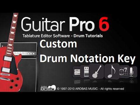 Guitar Pro 6 for Drummers - Part4: Custom Drum Notation Key