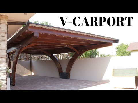 Production Of Curved V Carport Youtube