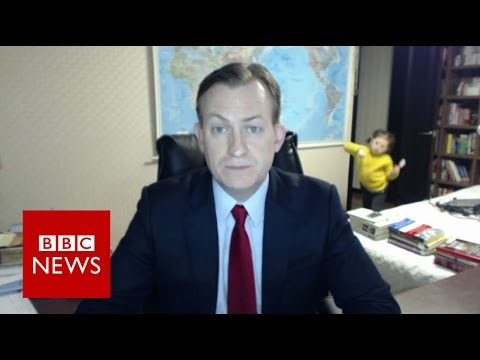 Children interrupt BBC    BBC