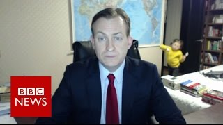 Children interrupt BBC News interview - BBC News thumbnail