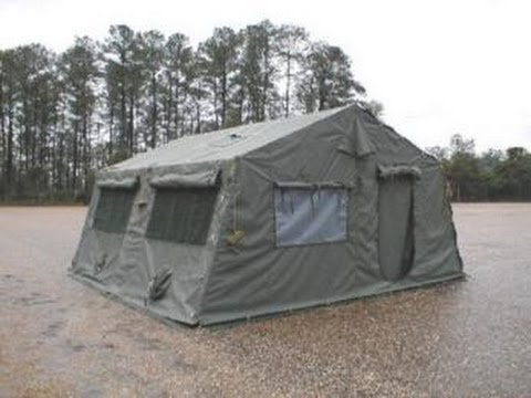 New Camouflage Green Tent on GovLiquidation.com - YouTube