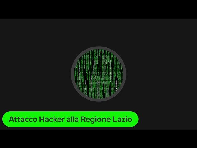 Attacco #Hacker alla #Regione #Lazio, ne parlo #LIVE con Fabrizio Colista