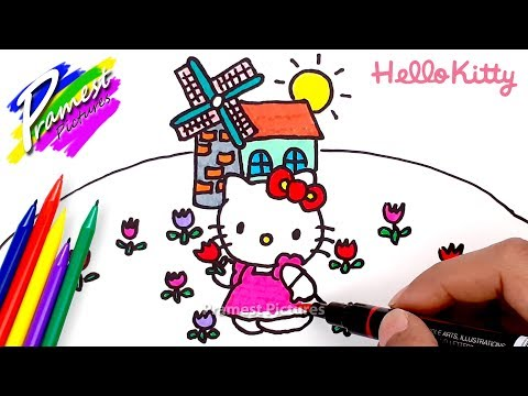 Hello Kitty 5 Cara Menggambar Dan Mewarnai Gambar Kartun Anak Tk Youtube