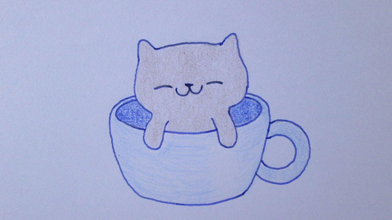 como desenhar um gatinho muito fofo youtube