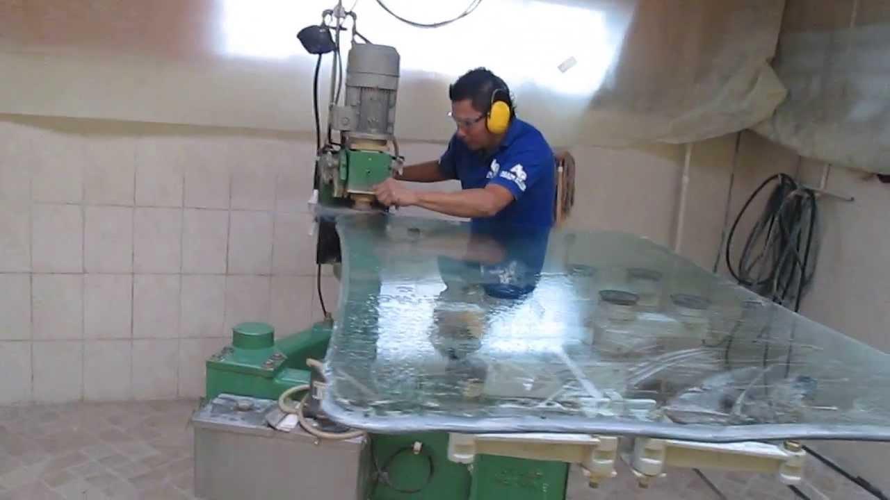 Pulpo biseladora comedores en vidrio youtube for Precios de comedores en vidrio