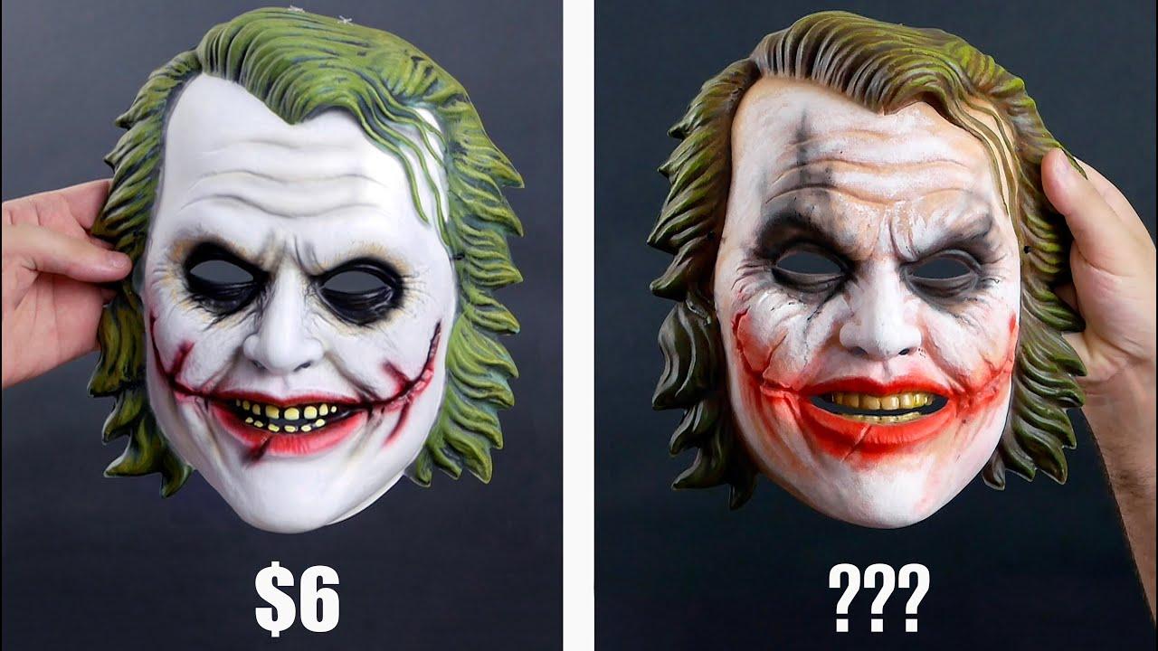 Repainting Cheap Halloween Masks