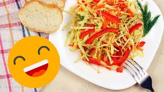 САЛАТ ИЗ КАПУСТЫ С МОРКОВЬЮ. Рецепт салата из свежей капусты!
