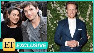 Mila Kunis and Ashton Kutcher Are Insanely Jealous of Sam Heughan's 'Six-Pack' (Exclusive)