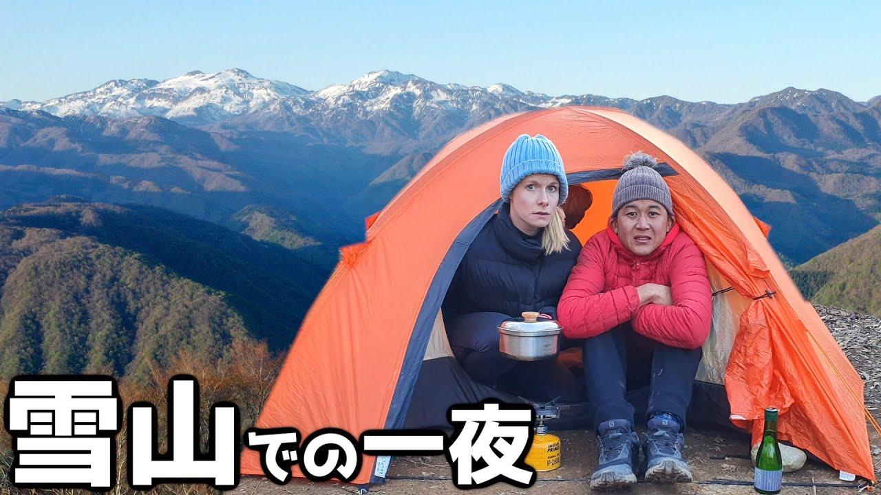 福井県で一番高い雪山の頂上でキャンプしてみたら天国みたいだった - VAN LIFE JAPAN 122