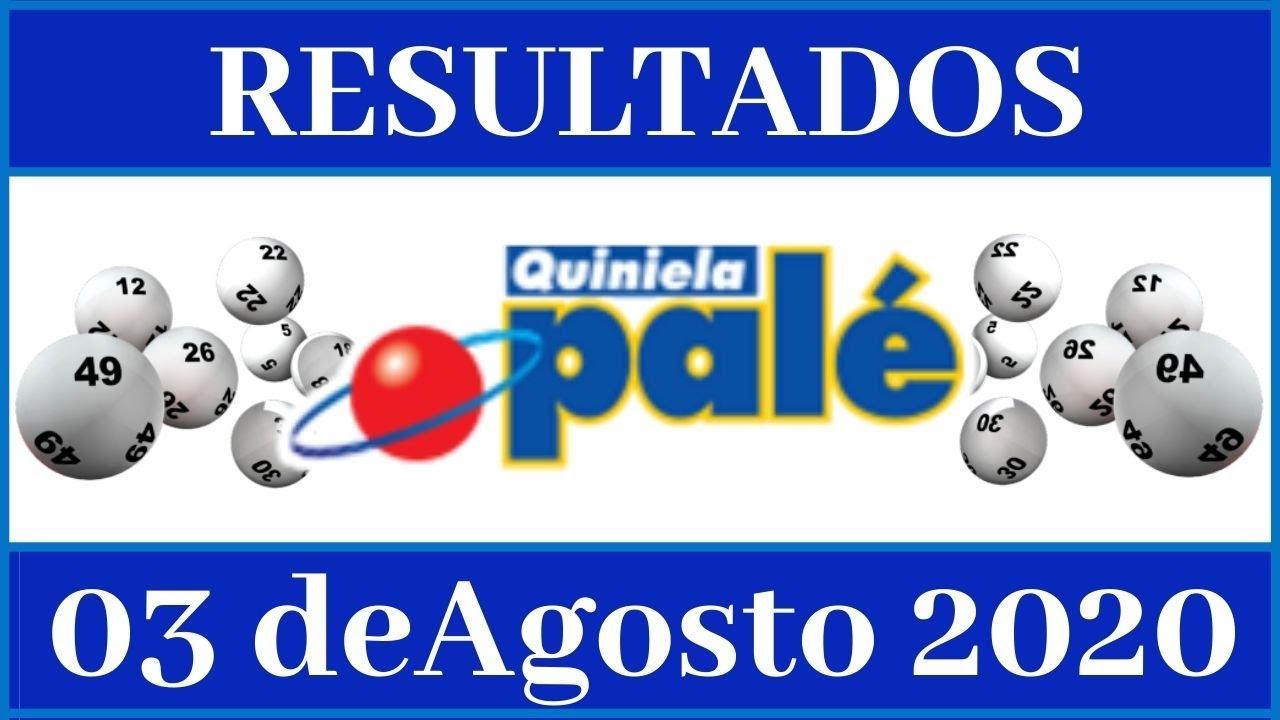 Resultados de la loteria Quiniela Pale de hoy 03 de Agosto del 2020