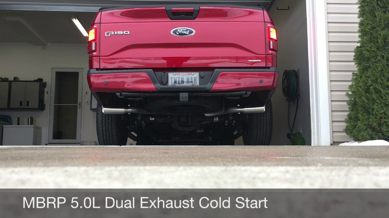 2016 F150 5 0l Mbrp Installer Series Dual Exhaust Youtube