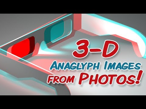 how to draw anaglyph images