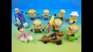 2017 DESPICABLE ME 3 SET OF 10 McDONALDS HAPPY MEAL KIDS MOVIE TOYS VIDEO REVIEW